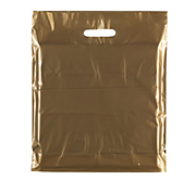 Gold Plastic Carrier Bags - Classic