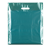Metallic Green Plastic Carrier Bags - Classic