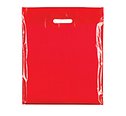 Red Plastic Carrier Bags - Classic