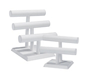 Economy White Leatherette Jewellery Bangle Stands
