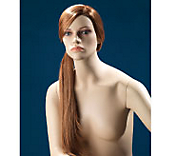 Long Strawberry Blonde Mannequin Wig