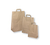 Brown Flat-Handled Paper Carrier Bags