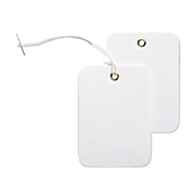 White Swing Tags with Eyelets