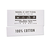 100% Cotton Clothing Labels