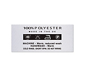 100% Polyester Clothing Labels