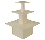 Cream 3-Tier Square Gondolas