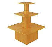 Oak 3-Tier Square Gondolas