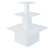 White 3-Tier Square Gondolas