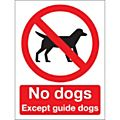 Prohibition & No Smoking Signs-  No Dogs Except. - Each -42042