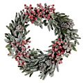 Berry Snow Wreath - Green and Red -