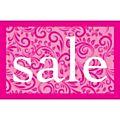 Lace Sale Poster - Pink - 75 x 49cm-  Each -77026