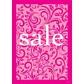 Lace Sale Poster for A-Frame - Pink - A2-  Each -77029