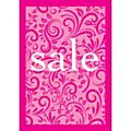 Lace Sale Poster for A-Frame - Pink - A1-  Each -77030