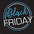 Black Friday Window Cling Centre Blue 50x50cm-  Each -77176