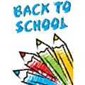 Back To School Window Cling Yellow Border -