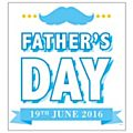 Fathers Day Window Cling Centre Blue-  Blue - 70 x 50cm - Each -77386