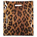 Animal Print Carrier Bags, Leopard print - 39 x 45 x 8cm -