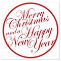 Merry Christmas Window Cling -
