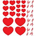 Lipstick, Hearts And Arrows Window Cling -