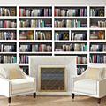 Mural Library Bookshelf - 90 x 210cm-  Pack of 1 -89815