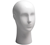 Female Gloss White Mannequin Head