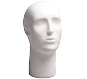 Male White Gloss Mannequin Head