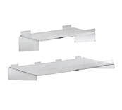 Acrylic Slatwall Shelves with Lip