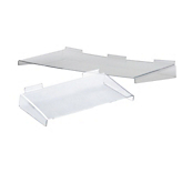 Acrylic Slatwall Shelves with Support