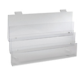 Acrylic Slatwall Tiered Racks