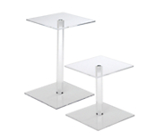 Acrylic Square-Top Stands