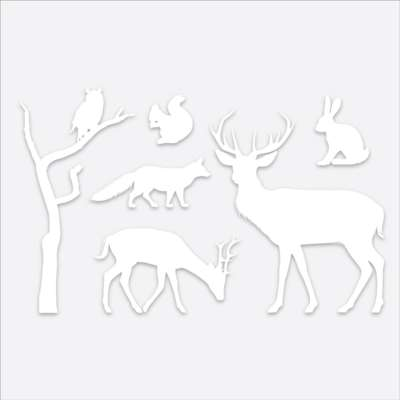 Animal Collection Window Cling