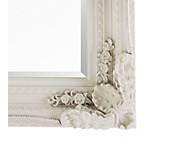 Antique Ornate Mirror Ivory