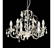 Antique White Scroll Chandelier