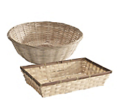 Bamboo Display Baskets