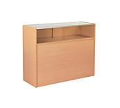 Beech Quarter Glazed Slimline Counter