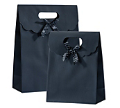 Black Gift Bag with Bow
