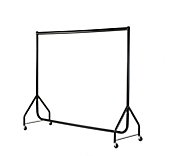 Black Reduced Height Clothes Rails