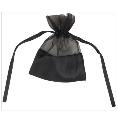 Black Organza Bags With Satin Base