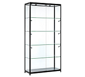 Black Panorama Glass Display Cabinets