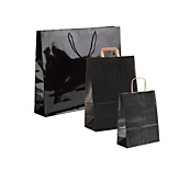 Black Paper Carrier Bags