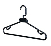 Black Spectrum 42 Coat Hangers