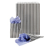 Black Striped Paper Bags