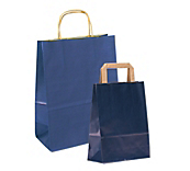 Blue Paper Carrier Bags