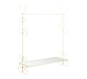 Cream Ophelia Clothes Rails and Shelf