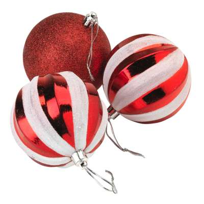 Candy Stripe Baubles