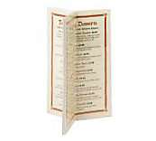 3 Sided Menu Stand