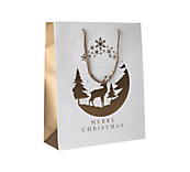 Christmas Bags Matt White And Gold