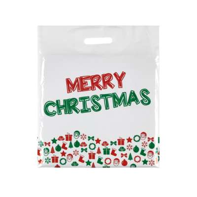 Christmas Plastic Carrier Bags