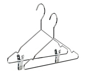 Chrome Display Hangers