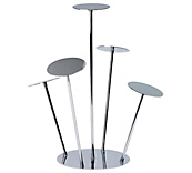 Chrome Hat Stands - Multi